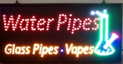 WATERPIPE.GLASS PIPES. VAPES SIGN
