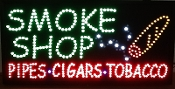 SMOKE SHOP. PIPES. CIGARS. TOBACCO SIGN