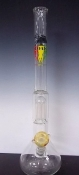 BEAKER STYLE 1 CHAMBER 1 OAK GLASS WATERPIPE