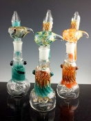 VARIOUS COLORED GLASS ON GLASS BUBBLER