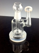 "6"" MINI RIG W/ SHOWER HEAD PERC AND MILKY WHITE COLOR"