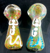 "4.5"" H.D. FRIT DESIGN GLASS PIPE"