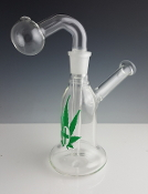 LARGE GLASS ON GLASS WATERPIPE