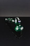 Unique beautiful green glass pipe  SW-GP702