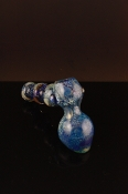Beautiful blue patronized glass pipe WS-GP705